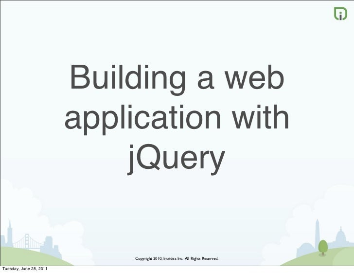 Building a web                         application with                             jQuery                              Co...