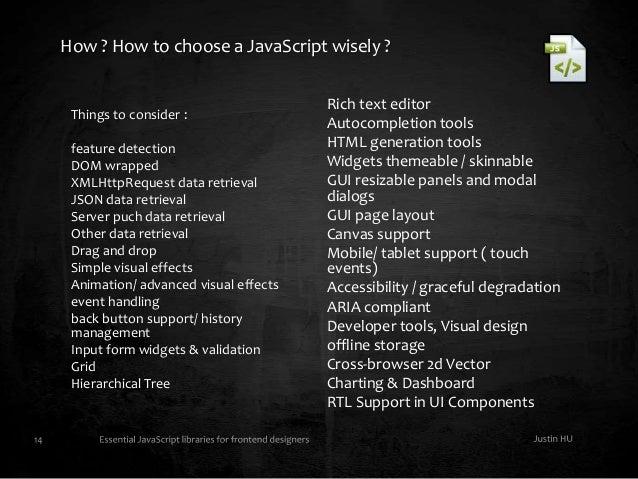 Javascript library toolbox