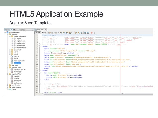 Java script nirvana in netbeans con5679 html5 application example angular seed template pronofoot35fo Gallery