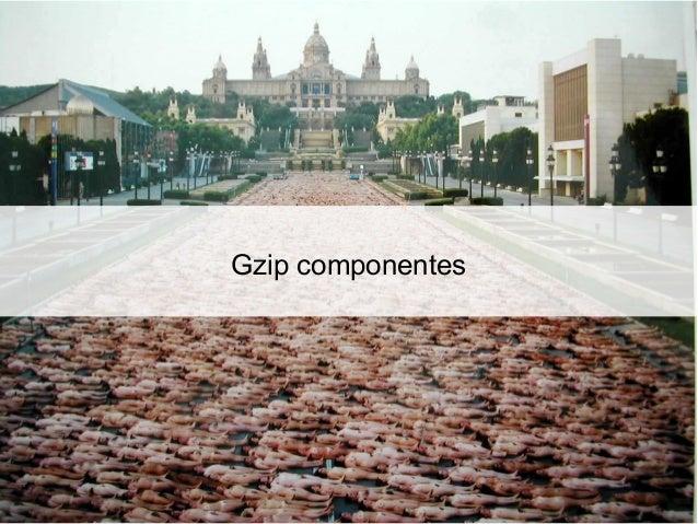 Gzip componentes ● HTML, CSS e JavaScript ● Request ● Response AcceptEncoding:gzip,deflate ContentEncoding:gzip Vary:...