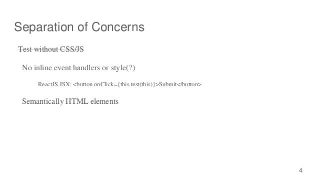 separation of concerns javascript