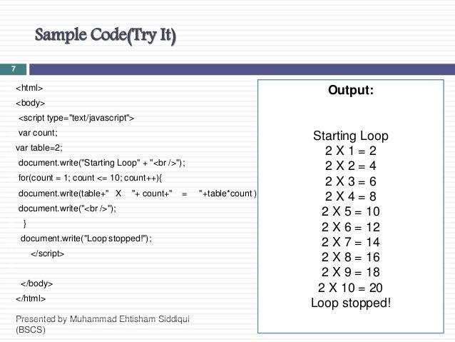 JavaScript Session 3