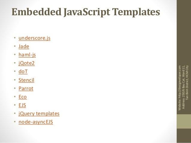 javascript template engine. Black Bedroom Furniture Sets. Home Design Ideas