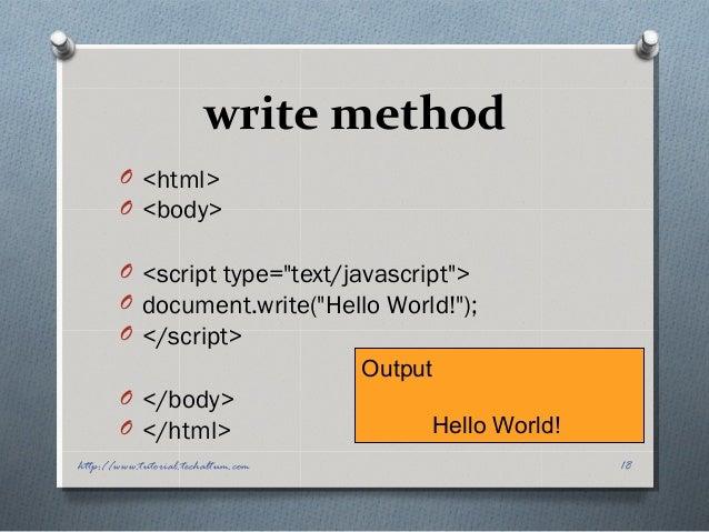 document.writeln() : write « Document « JavaScript Tutorial