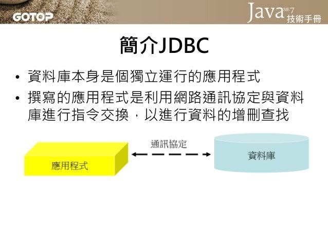 Java SE 7 技術手冊投影片第 14 章 - 整合資料庫 Slide 3