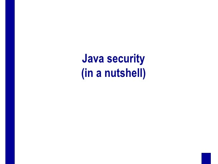 Java security(in a nutshell)