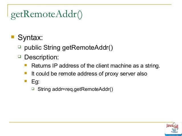 How To Get Client Ip Address In Java Servlet Get Client IP