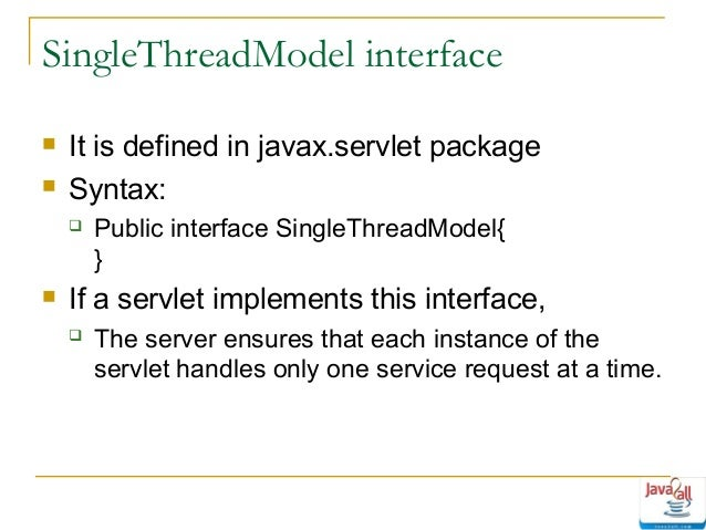 Singlethreadmodel interface deprecated