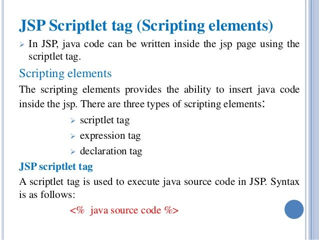 execute java code with jsp
