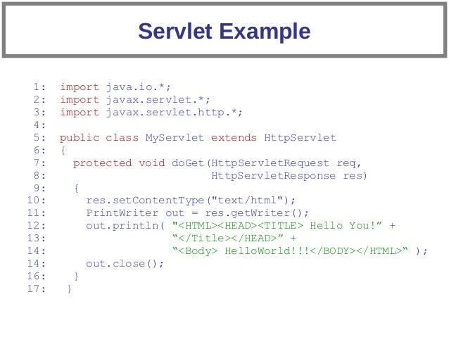 Java servlet example | java tutorial network.