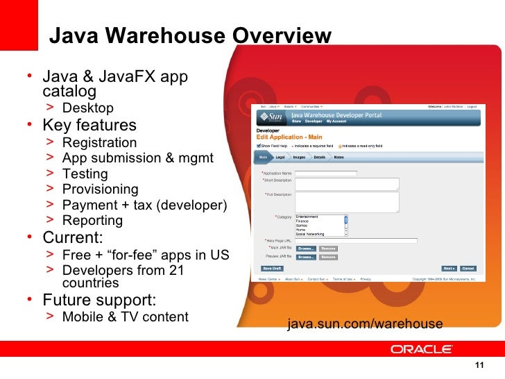 Java Store & Java Warehouse Overview