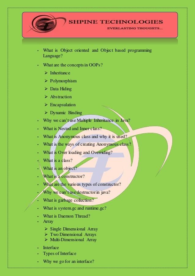 Java course  Slide 2