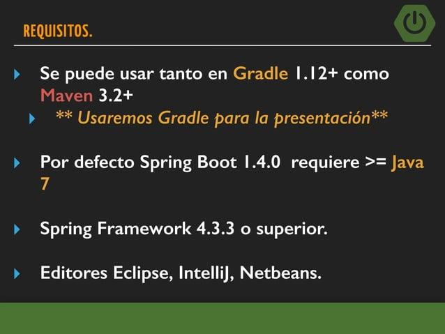EJEMPLO EXPRESS SPRING BOOT CLI Aplicación web muy simple que se puede utilizar para probar la instalación. Crear un archi...