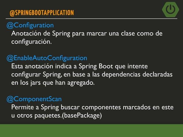 TESTING CON SPRING-TEST(Y MVC) • spring-boot-starter-test provee dependencias útiles de pruebas. • JUnit • spring-test • M...