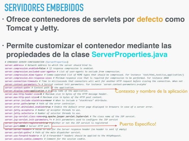 AGREGANDO RECURSOS ESTÁTICOS. • Fáciles de usar: classpath:/static/** • Variadas alternativas: • classpath:/public/** • cl...
