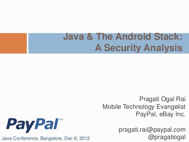 Java & The Android Stack:                                  A Security Analysis                                            ...