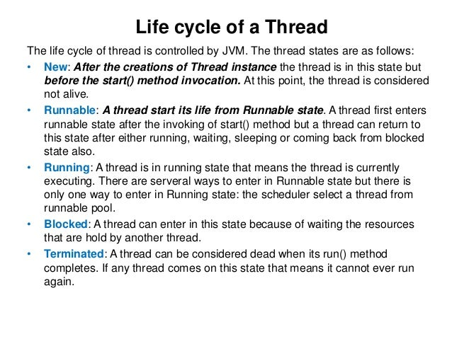 Runnable 12 Life Cycle Of A Thread