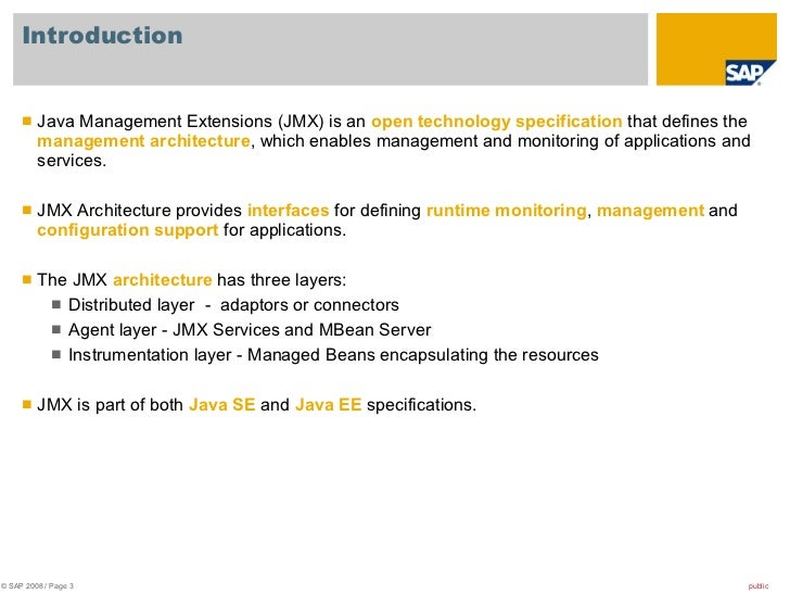Introduction to JMX Technology - Oracle