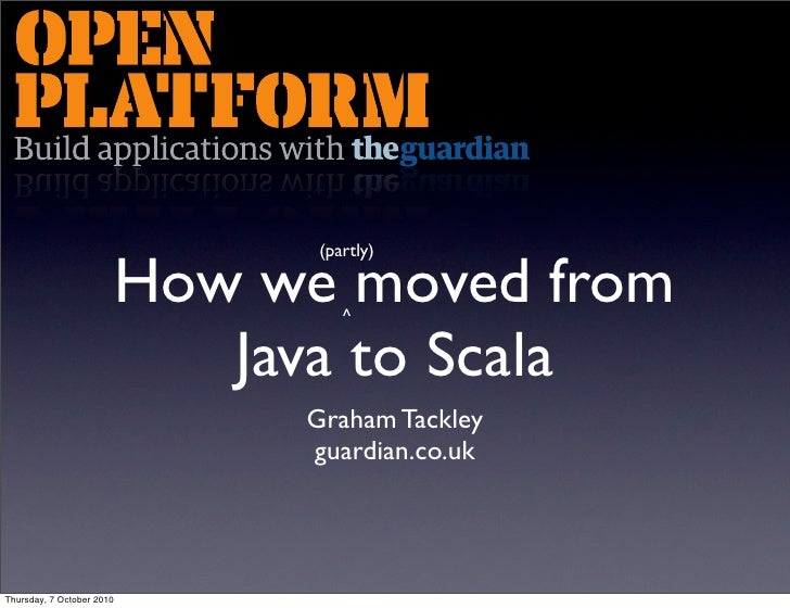 (partly)                             How we moved from                                     ^                              ...