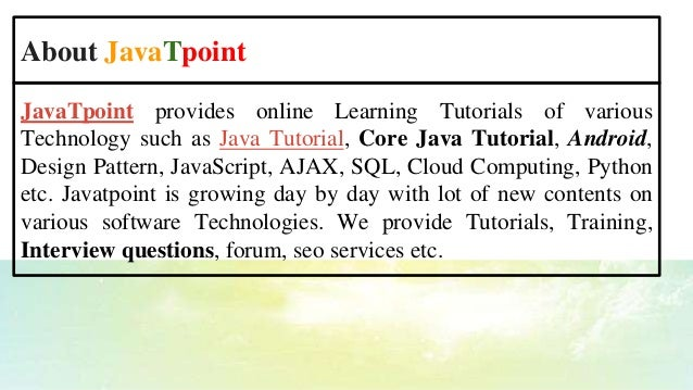 CCNA Interview Questions and Answer ppt - JavaTpoint