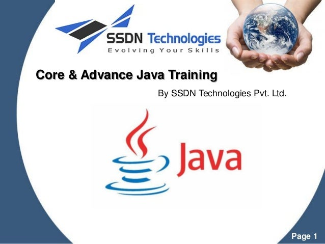 Java training institute powerpoint templates page 1 core advance java training by ssdn technologies pvt toneelgroepblik Image collections