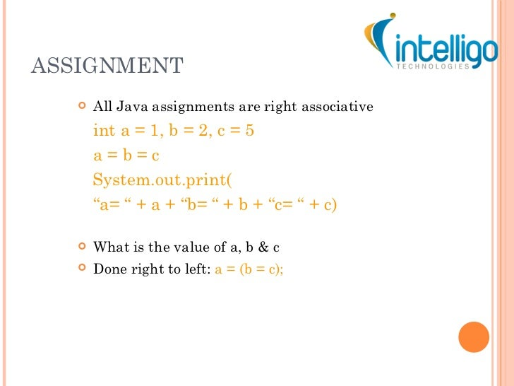 java tutorial ppt assignment