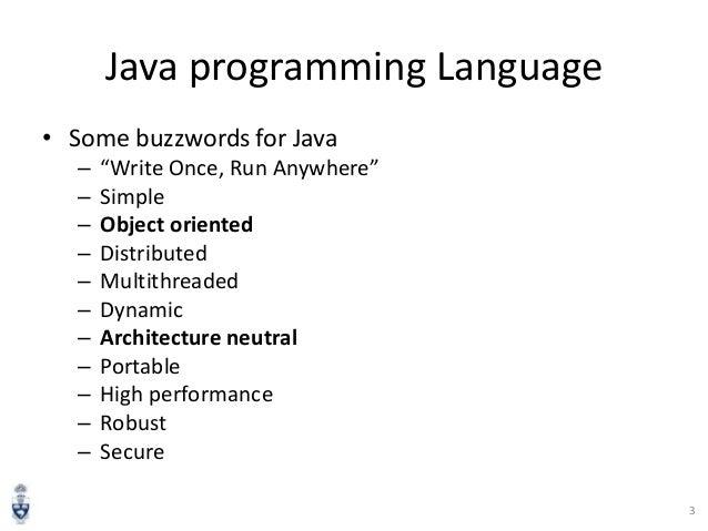 Introduction to Java Programming Language