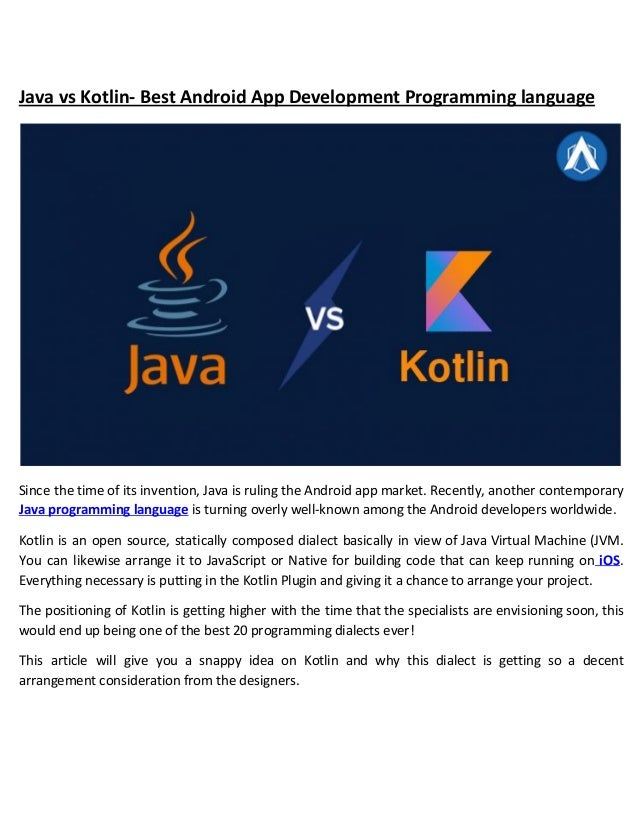 kotlin vs java android app