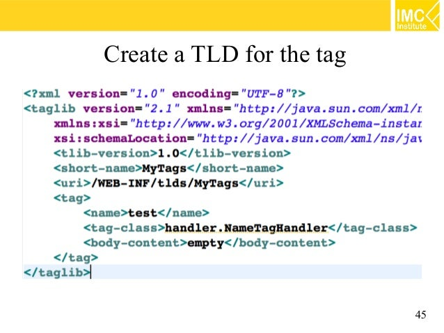 How to write custom tags in java