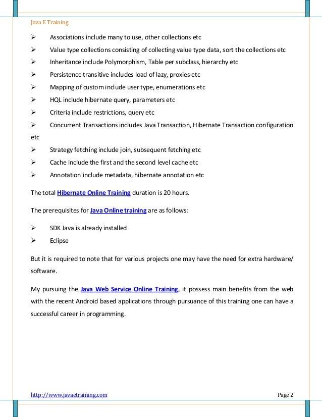 Training pdf java