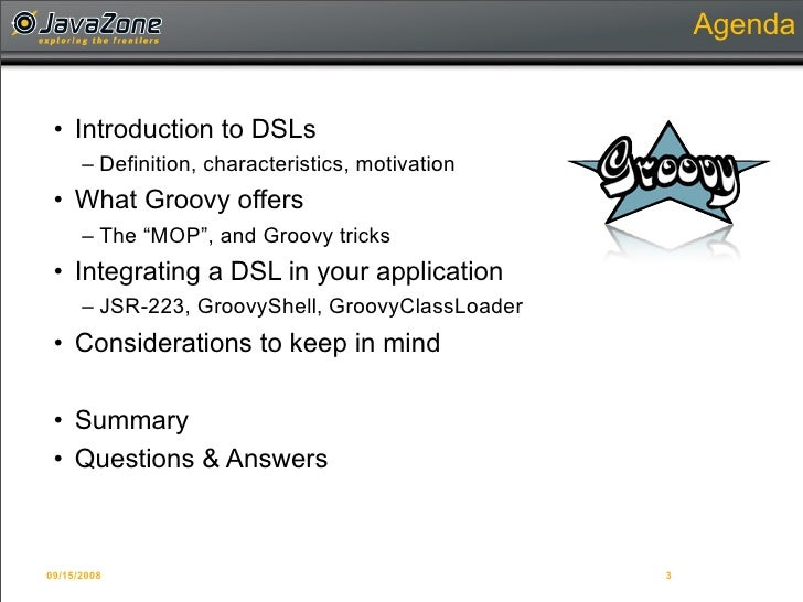 Writing Domain-Specific Languages in Groovy Slide 3