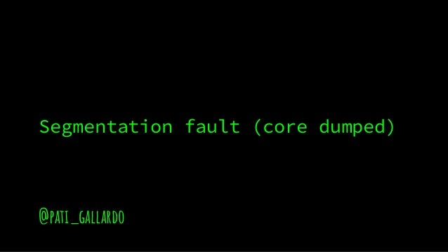 @pati_gallardo Segmentation fault (core dumped)