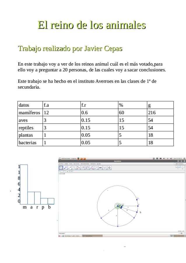 El reino de los animalesEl reino de los animales Trabajo realizado por Javier CepasTrabajo realizado por Javier Cepas En e...