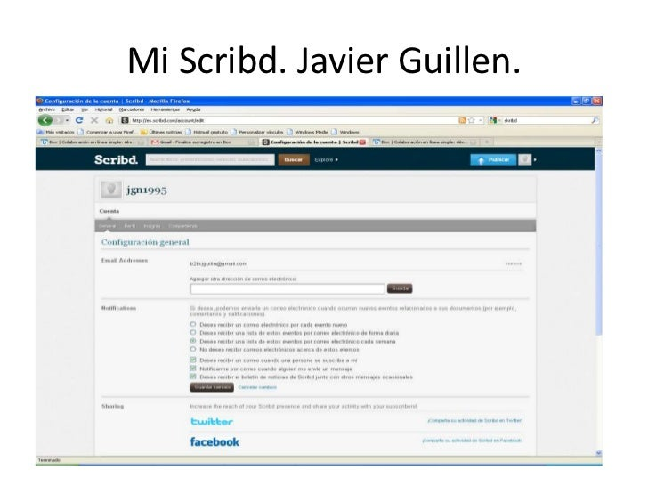 Mi Scribd. Javier Guillen.