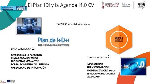 El Plan IDi y la Agenda i4.0 CV LINEA ESTRATEGICA 1: DESARROLLAR LA CAPACIDAD INNOVADORA DEL TEJIDO PRODUCTIVO MEDIANTE EL...