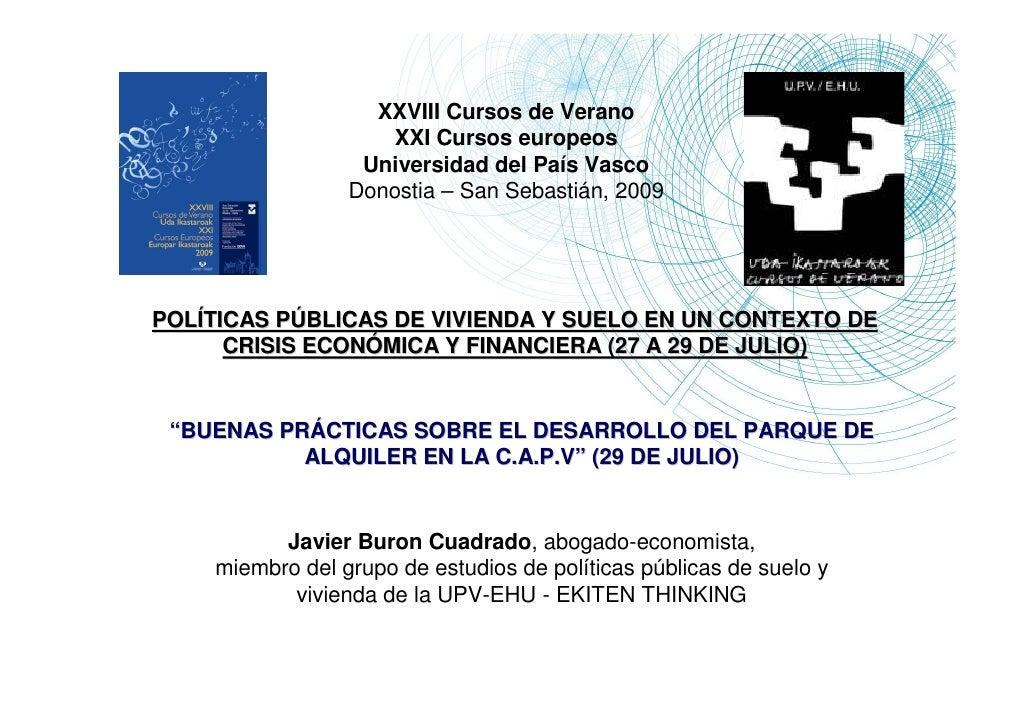 XXVIII Cursos de Verano                      XXI Cursos europeos                   Universidad del País Vasco             ...
