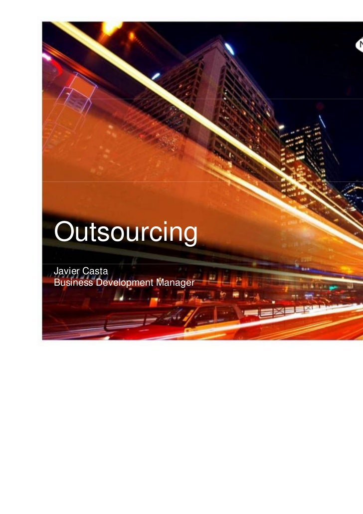 OutsourcingJavier CastaBusiness Development Manager