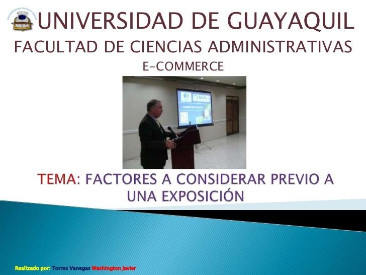 UNIVERSIDAD DE GUAYAQUILFACULTAD DE CIENCIAS ADMINISTRATIVAS                                                  E-COMMERCERe...