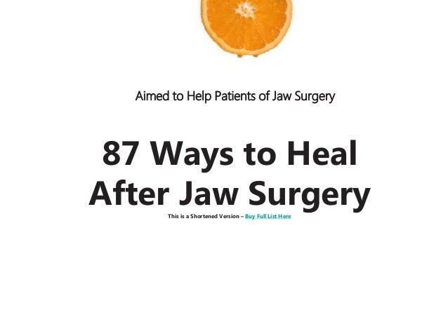 Jaw Surgery Diet