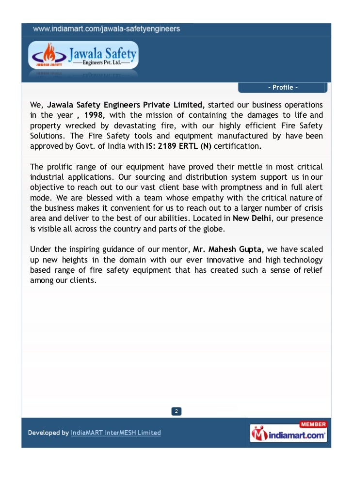 Jawala Safety Engineers Private Limited, New Delhi, Fire Safety Products Slide 2