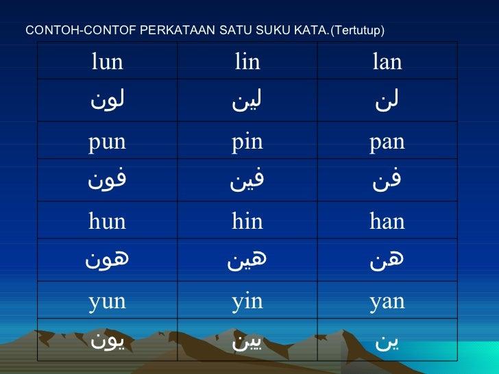 Suku Kata Terbuka Jawi Kssr Pendidikan Islam Tahun I