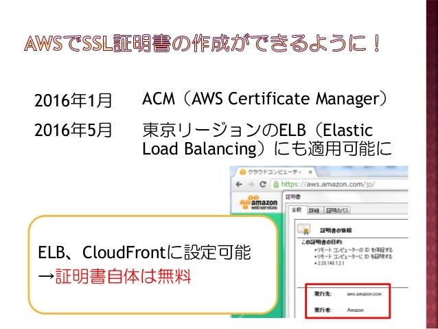 ACMで作成するSSL証明書の活用 Slide 3