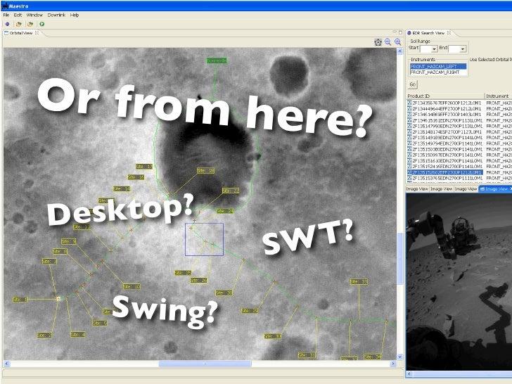 Or from her           e?Desktop?            SWT?   Swing?