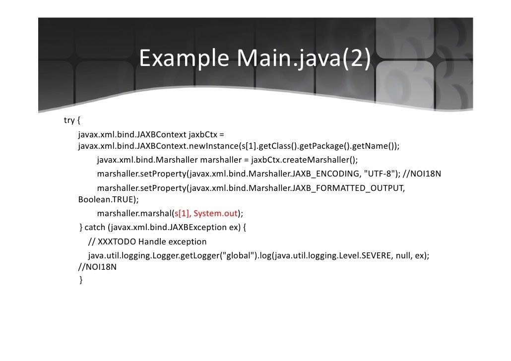 jaxb marshal to string example