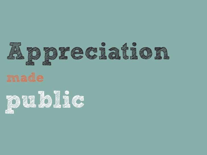 Appreciationmadepublic