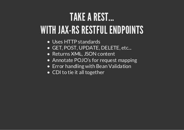 AEROGEAR'S MOBILE WEB QUICKSTART        The HTML5 + REST example:     single page app     jQuery / jQuery mobile     JavaE...