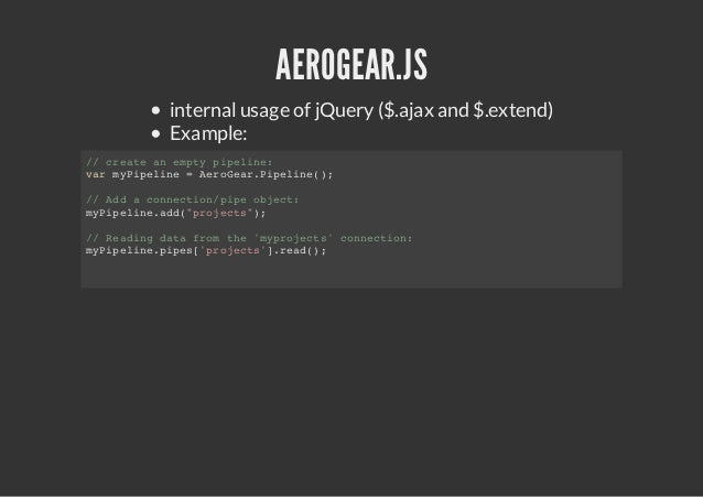 AEROGEAR-IOSiOS 5 - full ARC supportAFNetworking used for HTTP communicationExample: