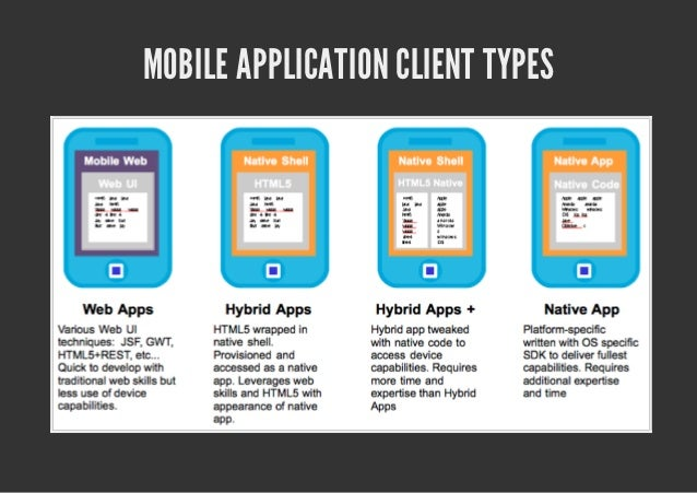 MOBILE APPLICATION CLIENT TYPES