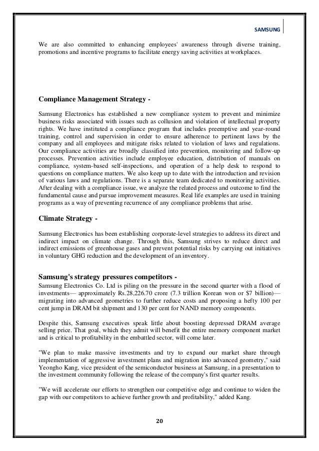 samsung business strategy pdf