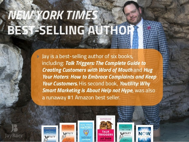 ‣ Jay is a best-selling author of six books, including: Talk Triggers: The Complete Guide to Creating Customers with Word ...